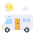 camping van icon summer vacation related vector image vector image