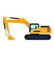 cartoon building machine excavator vector image