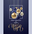 christmas and new year greeting card design of vector image