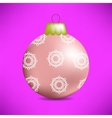 Christmas Pink Glass Ball vector image vector image