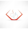 coffee for two icon vector image