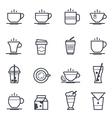 Coffee Icon Bold Stroke vector image vector image