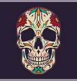 colorful sugar skull template vector image