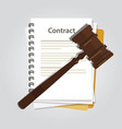 contract law concept legal regulation judicial vector image