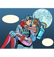 Couple astronauts love man woman vector image vector image