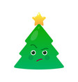 critical christmas tree isolated emoticon vector image vector image