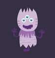 cute monster cartoon character 006 vector image vector image