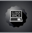 cyber monday symbol vector image