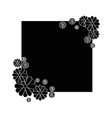 decorative frame icon vector image vector image