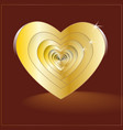 design elements for valentine s day a heart of vector image vector image