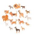 dog icons set cartoon style vector image