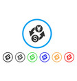 dollar yen exchange rounded icon vector image vector image