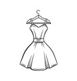 dress hanger outline vector image vector image