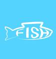 Fish design modern layout background logo vector image