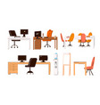flat collection office and home work vector image vector image