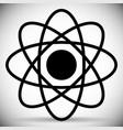 flat molecule atom atomic symbol vector image