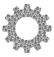 gear composition of library building icons vector image vector image