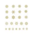 golden snowflakes icon on white background vector image vector image