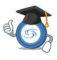 graduation syscoin character cartoon style vector image vector image