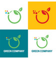 green company icon and logo vector image