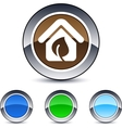 green home round button vector image vector image