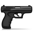 Hand gun cartoon isolated