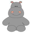 happy hippopotamus on white background vector image vector image