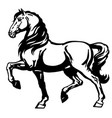 heavy horse side view vector image vector image