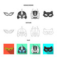 hero and mask logo vector image vector image