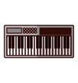 keyboard piano icon image vector image