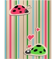 ladybirds in love vector image vector image