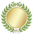 laurel wreath with medal vector image vector image