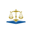 law education logo design vector image vector image