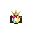 lens king logo icon design vector image vector image