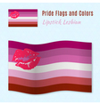 Lipstick Lesbian pride flag with correct color vector image vector image
