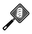 meat grill icon simple style vector image