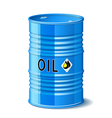 Metal barrel with oil vector image vector image
