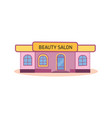 modern nice beauty salon building vector image