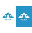 mountain and arrow up logo combination unique vector image vector image