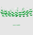 nigeria garland flag with confetti vector image vector image
