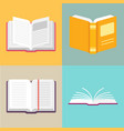 open book icons in a flat style vector image vector image