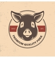 Pig head labels vector image vector image