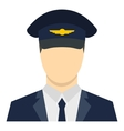 Pilot icon flat style vector image vector image