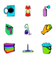 purification icons set cartoon style vector image