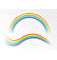 realistic rainbows on the vector image vector image