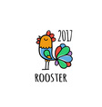 Rooster Logo template 2017 vector image vector image