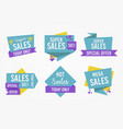 sales tag label set vector image vector image