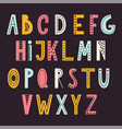 scandinavian abstract alphabet typography poster vector image vector image