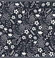 seamless floral pattern with white flowers vector image vector image