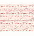 seamless red background with hearts vector image
